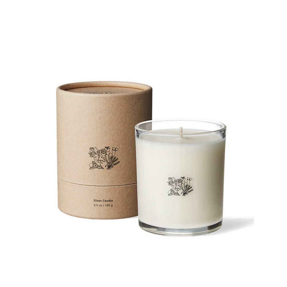 "APOTHEKE FRAGRANCE Glass Candle ""Oakmoss & Amber"""