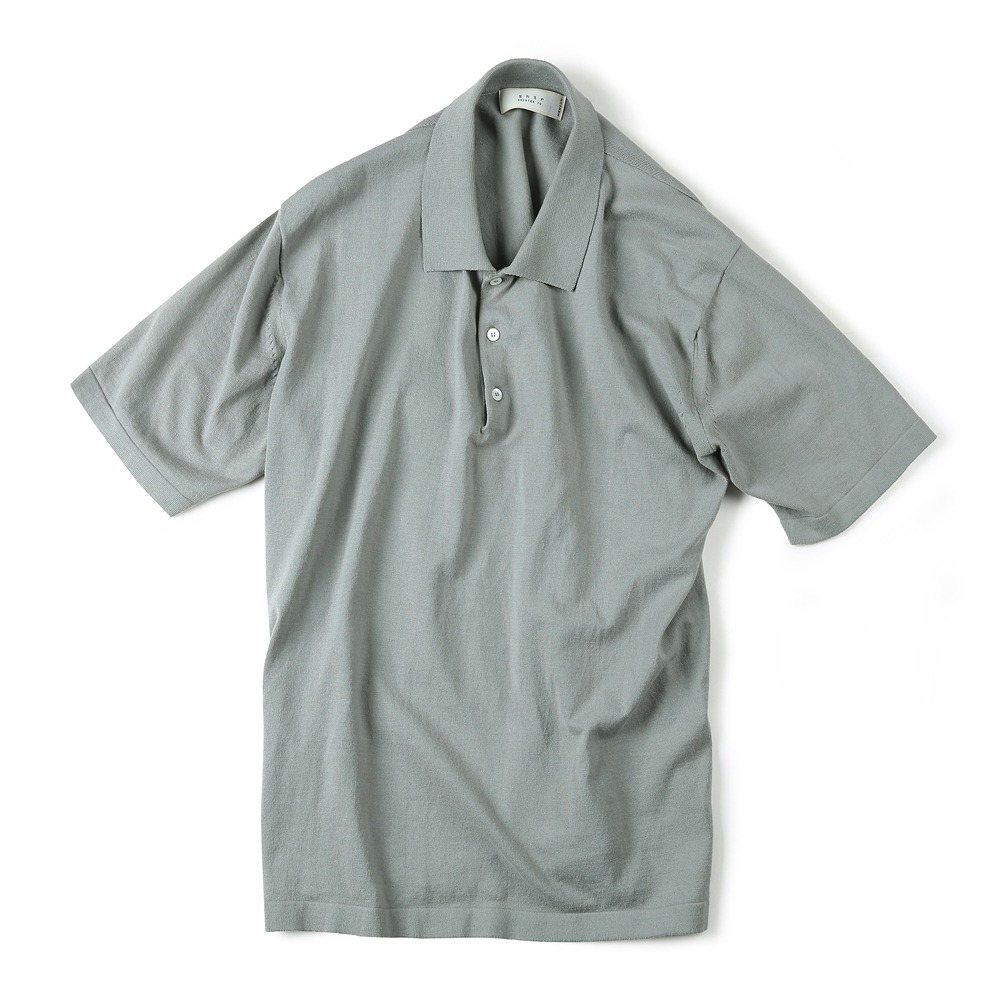 "SHIRTER x TRICOTER High Twist Cotton Polo Knit ""Grey"""