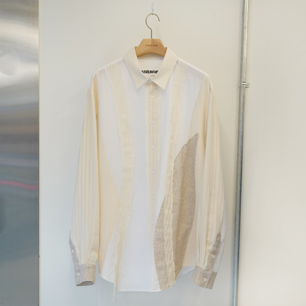 "THE MUSEUM VISITOR Layered Shirts ""Ivory"""