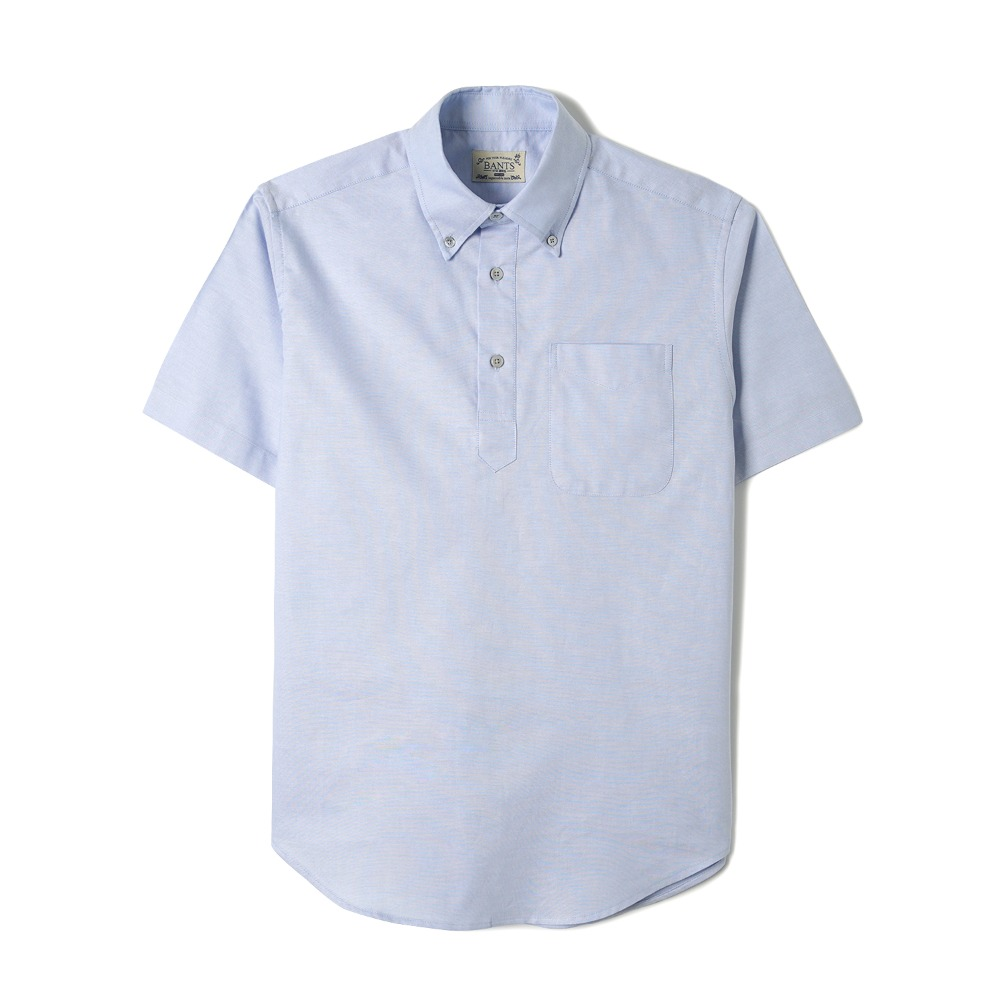"BANTS WSK Solid Oxford Pullover B.D Shirt Half ""Skyblue"""