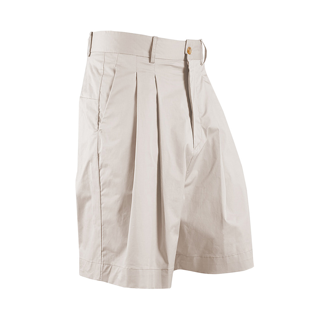 "OOPARTS wide-leg short pants ""Beige"""