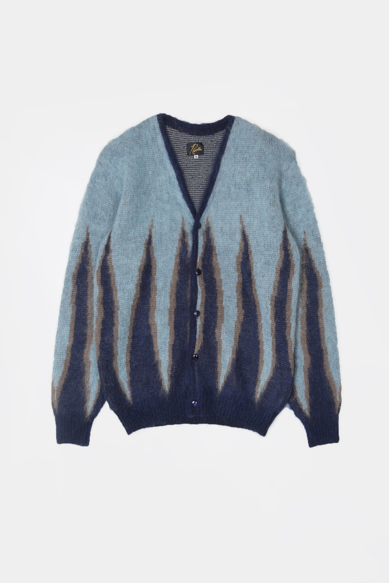 "NEEDLES Mohair Flame Cardigan  ""Navy"""