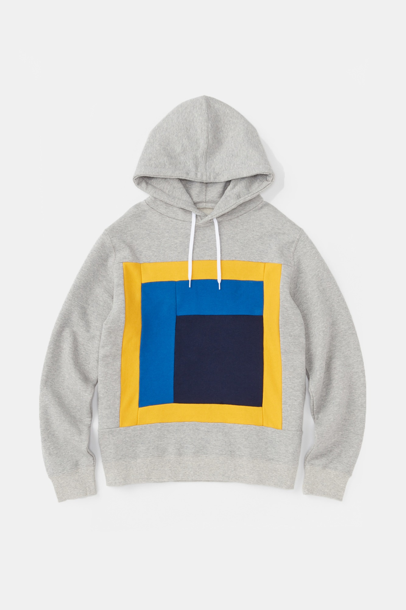 "ALOYE Color Blocks Hoodie ""Heather Grey"""