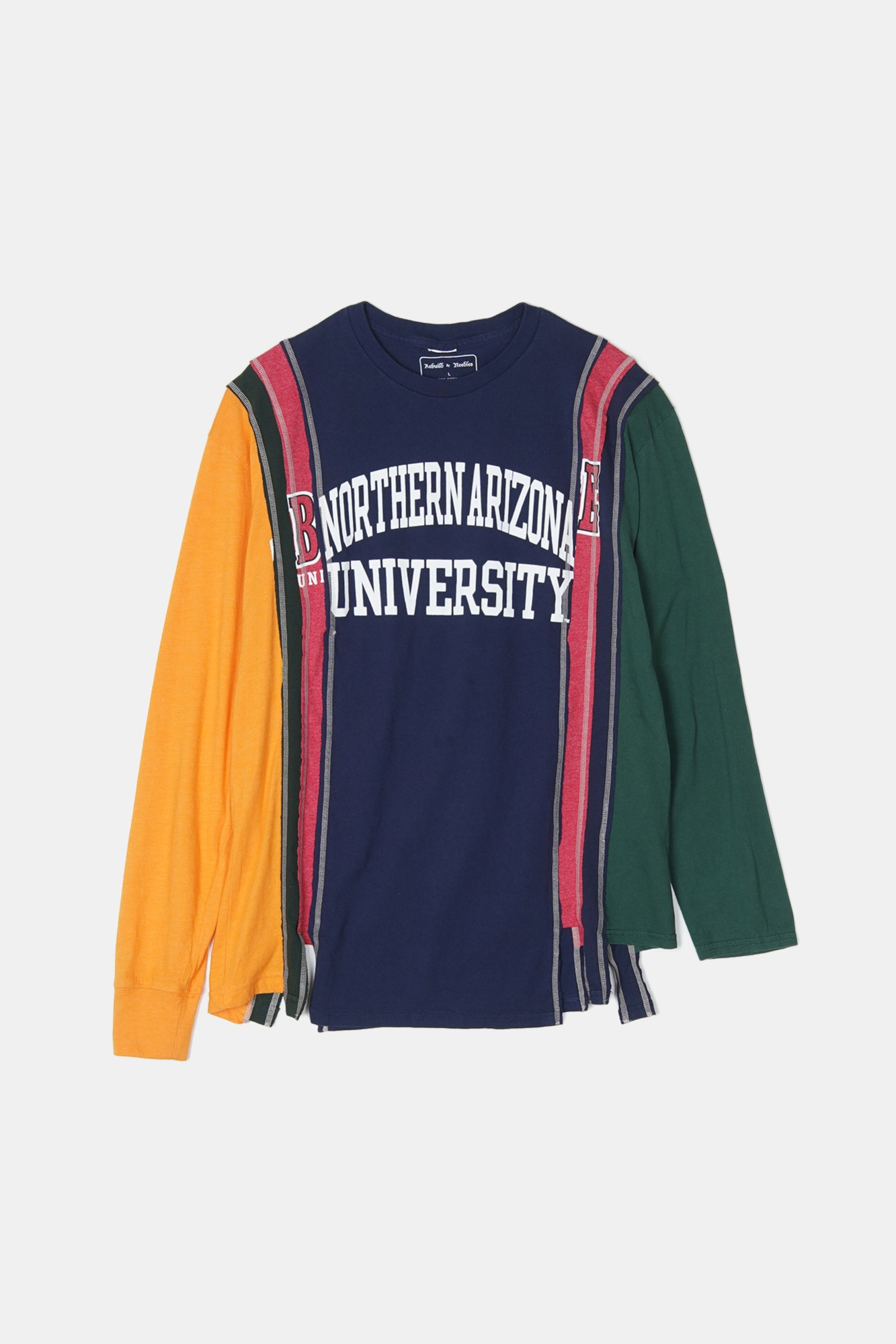 REBUILD BY NEEDLES 7 Cuts L/S College Tee 1