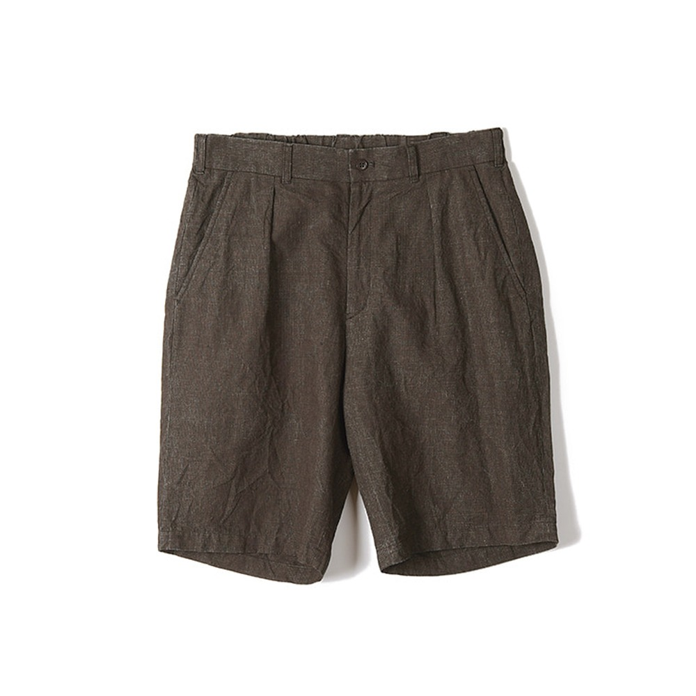 "Sage De Cret One Tack Wide Short Pants ""Brown"""