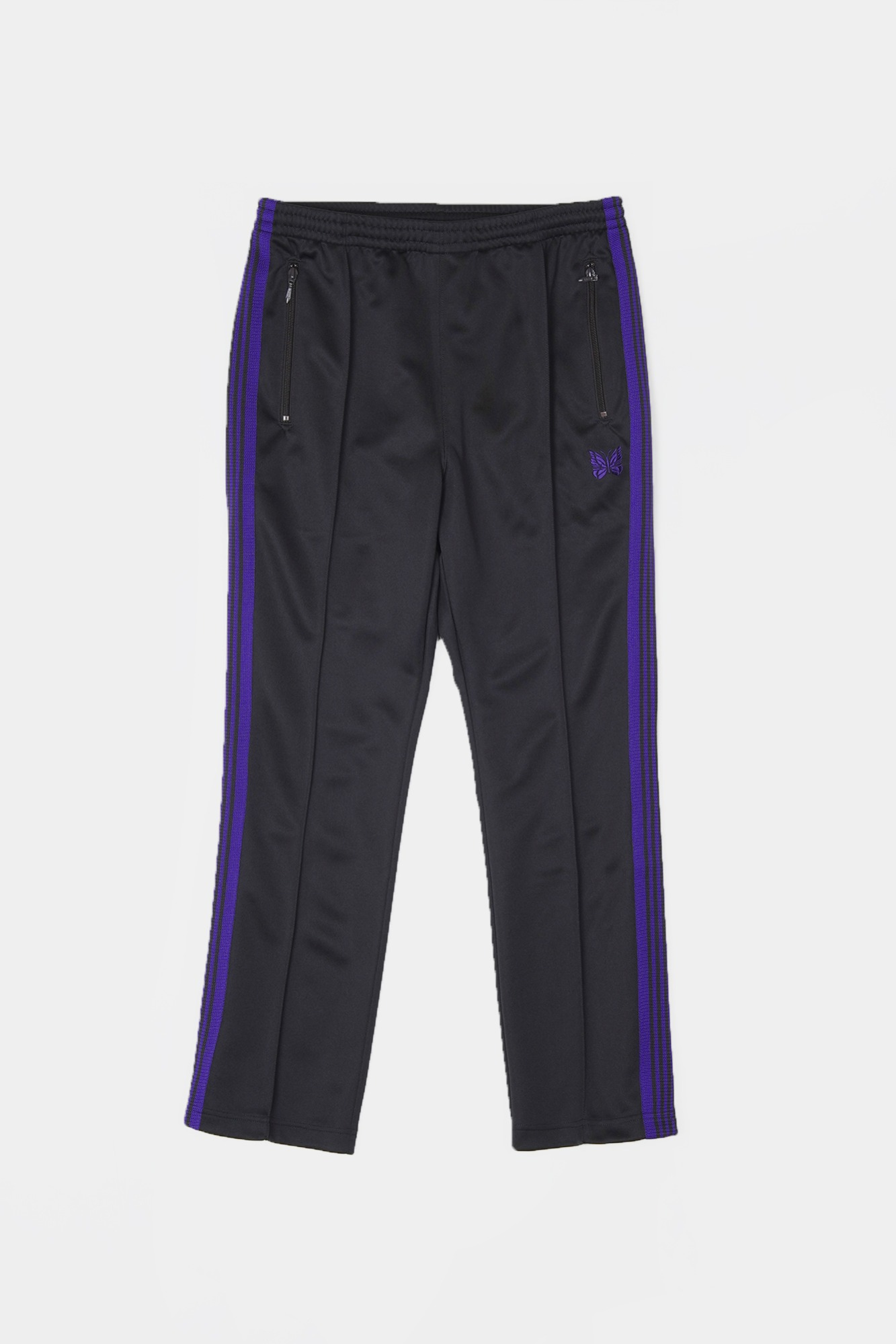 "NEEDLES Narrow Track Poly Smooth Pant ""Charcoal"""