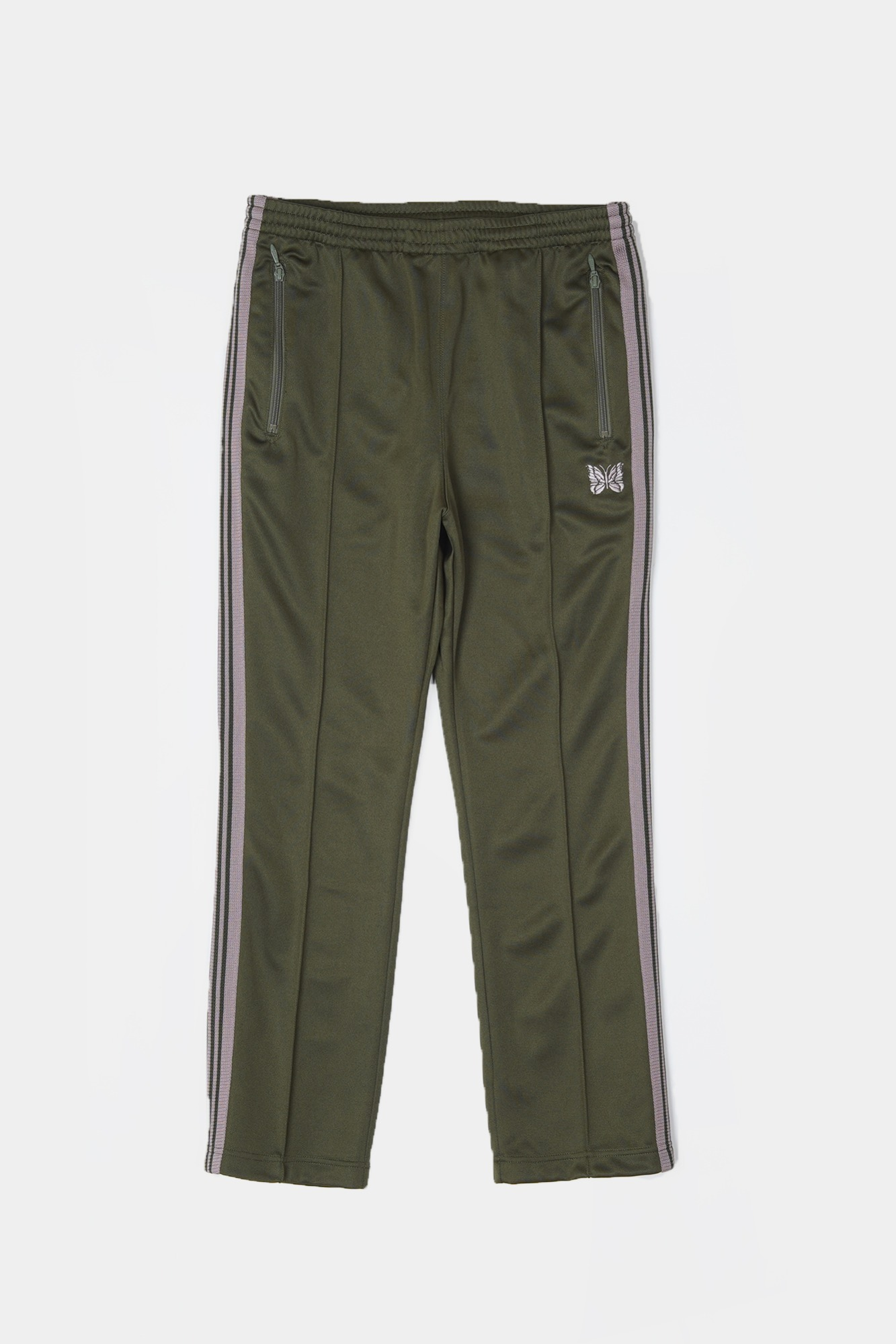 "NEEDLES Narrow Track Poly Smooth Pant  ""Olive"""