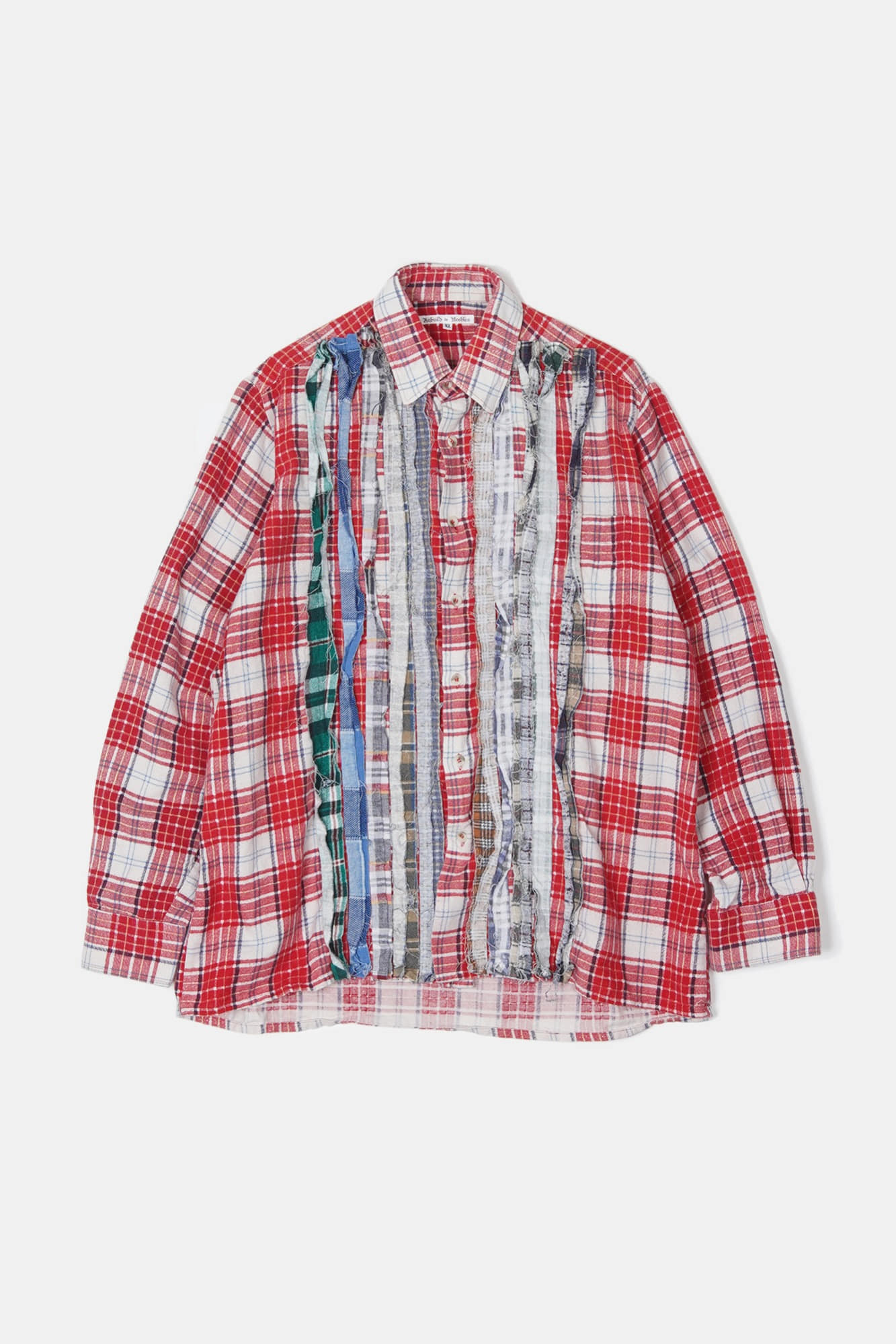REBUILD BY NEEDLES Flannel Ribbon Shirt 6