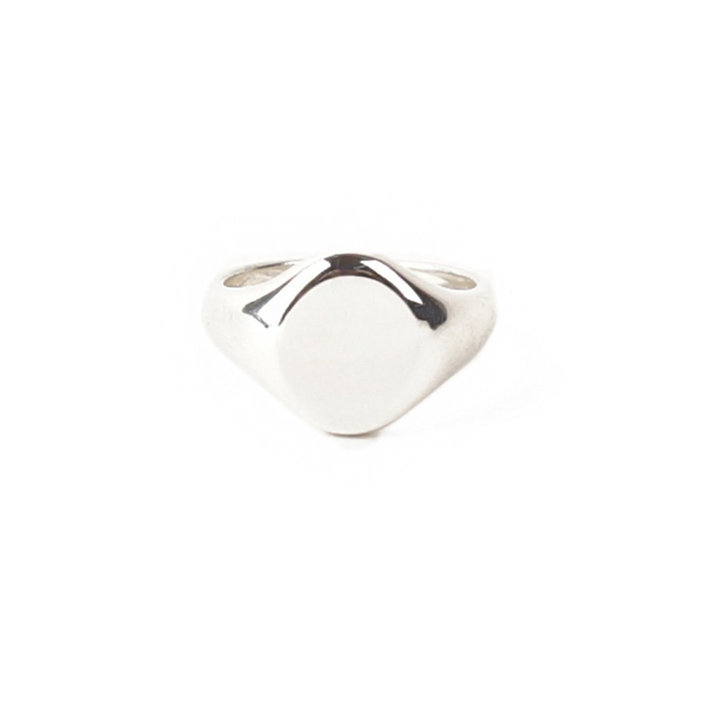 ATEASE Plain Signet Ring Oval