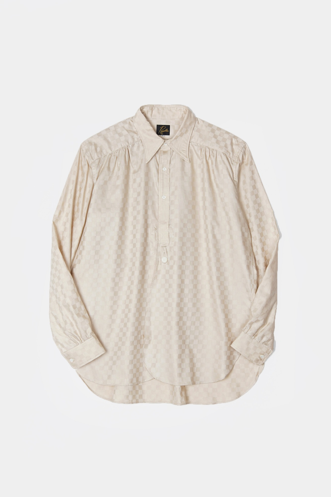 "NEEDLES Regular Collar EDW Block Plaid Shirt  ""Beige"""