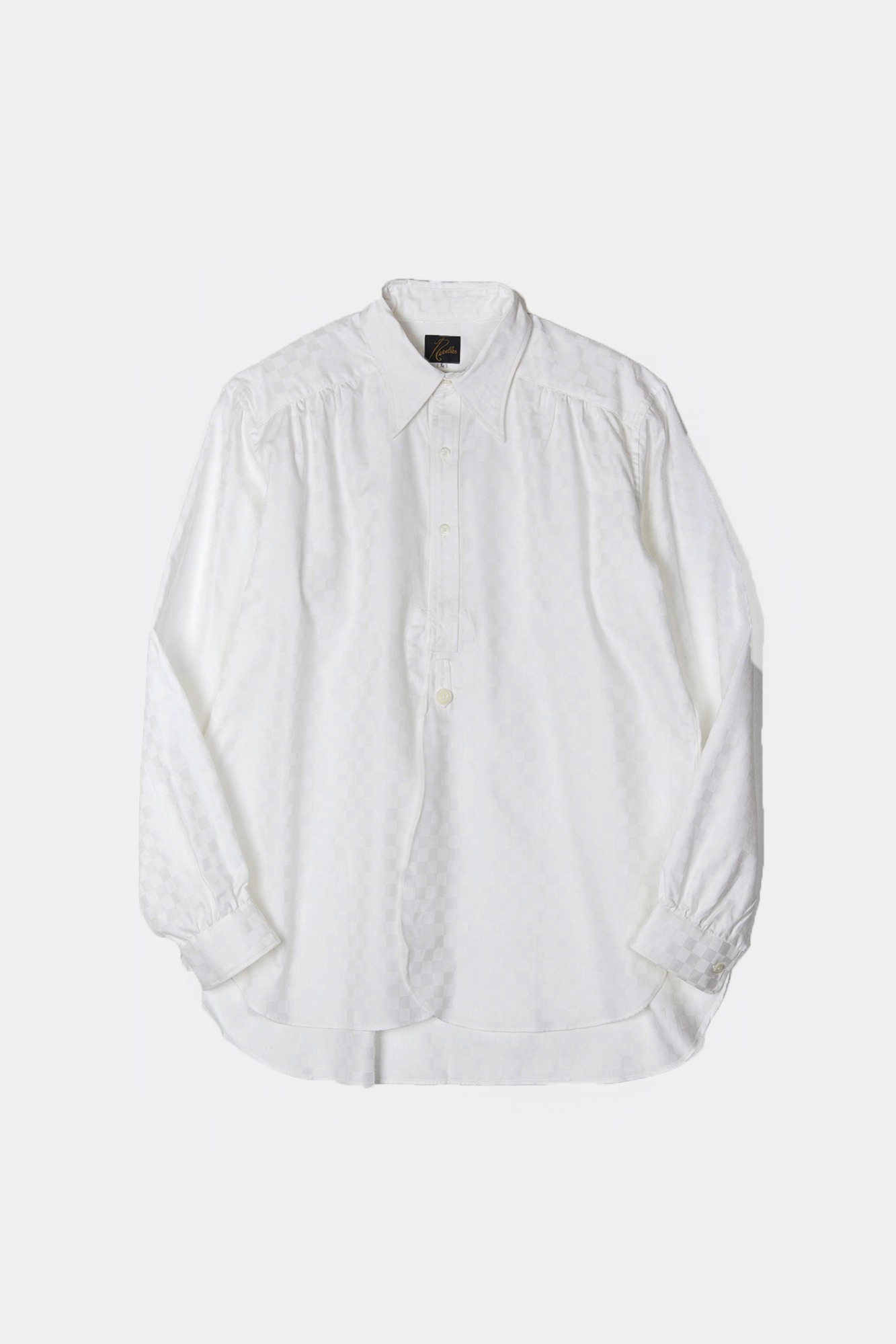 "NEEDLES Regular Collar EDW Block Plaid Shirt  ""Off White"""
