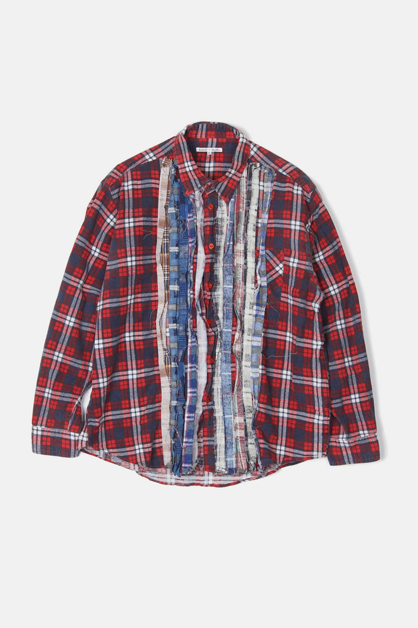 REBUILD BY NEEDLES Flannel Ribbon Shirt 3