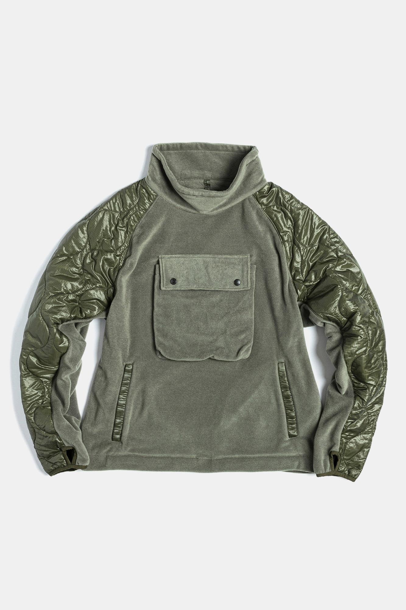 "EASTLOGUE Quilting Pullover Jumper ""Olive"""