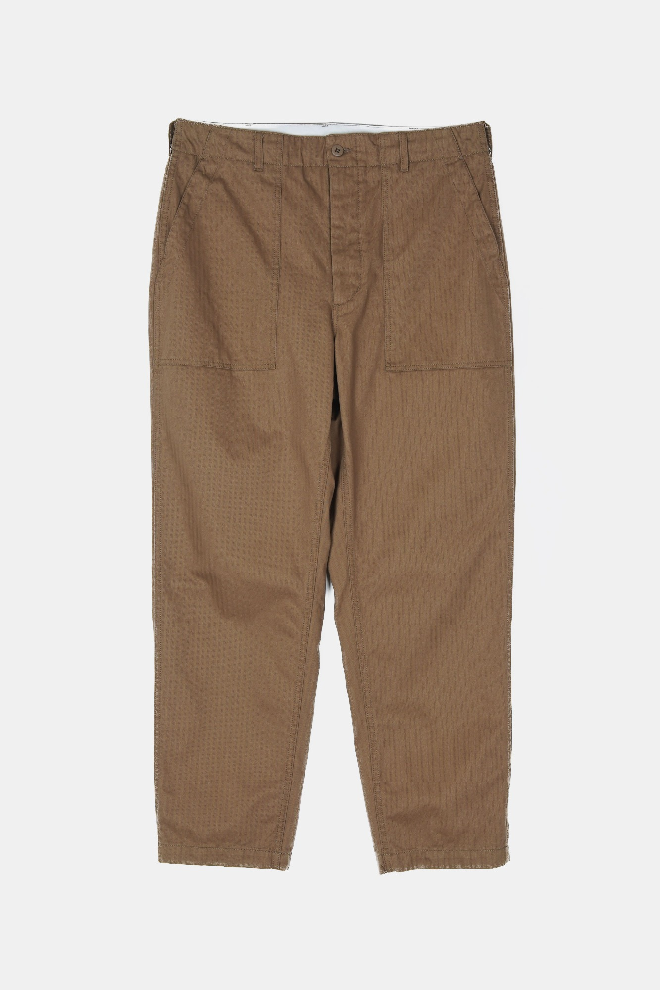 "ENGINEERED GARMENTS Fatique Pants ""Brown Cotton Herringbone Twill"""
