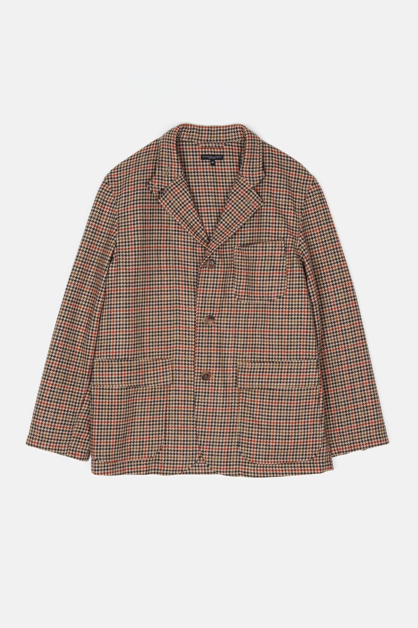 "ENGINEERED GARMENTS Loiter Jacket ""Tan/Orange Wool Big Gunclub Check"""