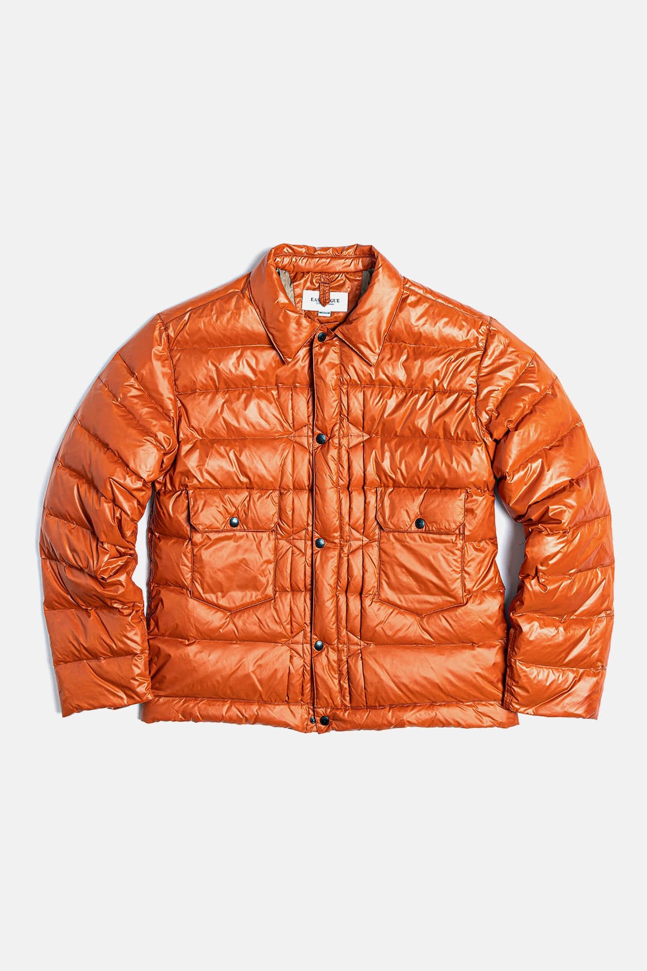 "EASTLOGUE Trucker Light  Down Jacket ""Orange Nylon"""