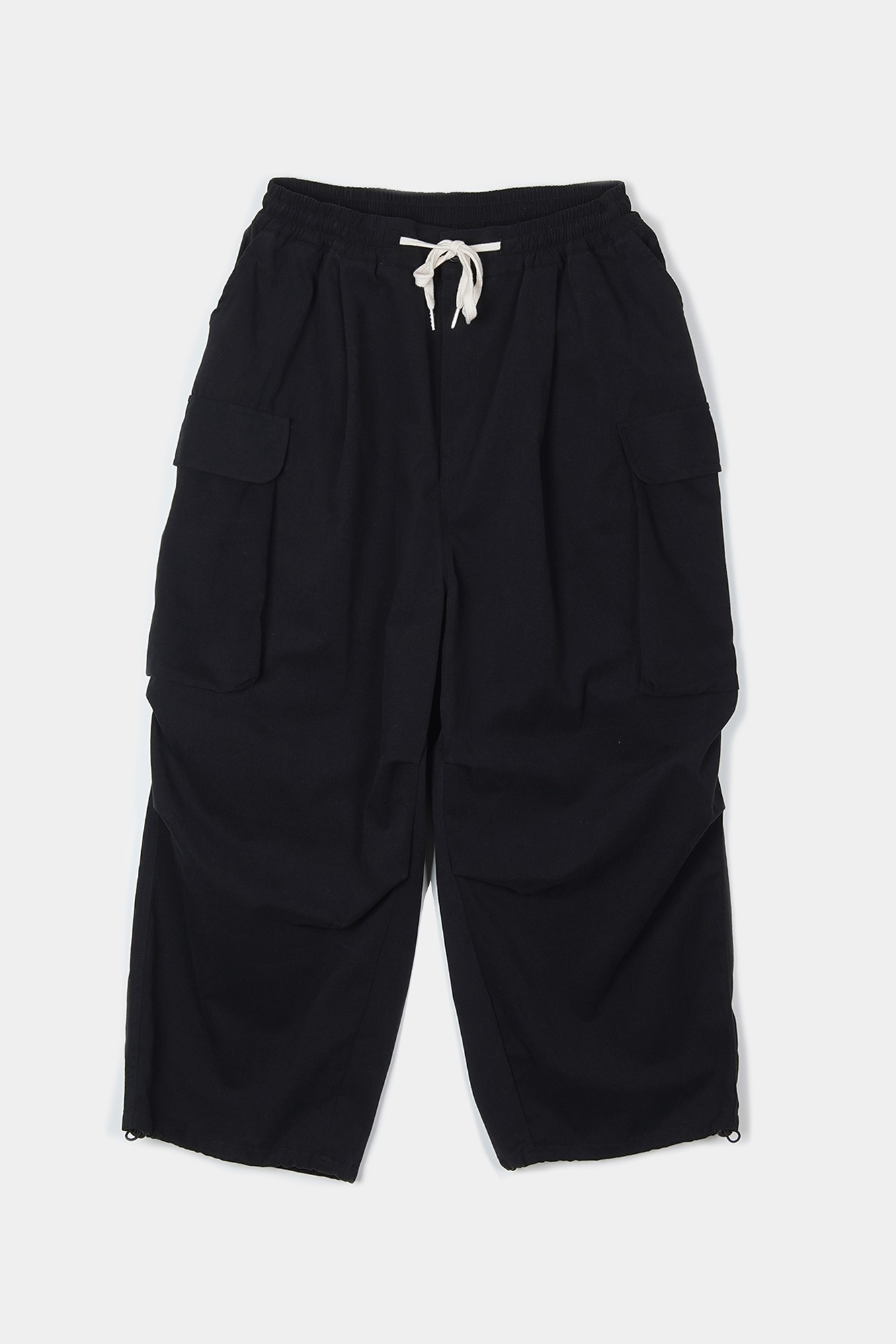 "CONICHIWA BONJOUR Wide Cargo Pants ""Black"""