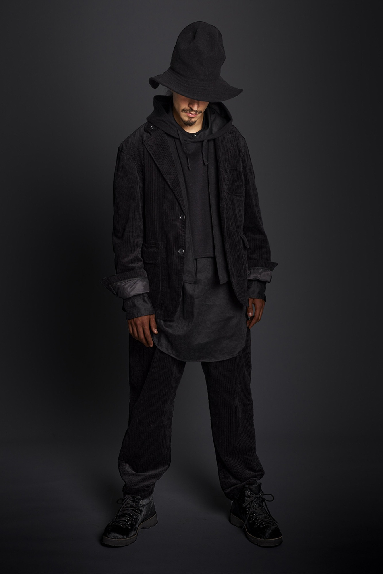 "★ENGINEERED GARMENTS Loiter Jacket ""Black Hi-Lo Corduroy"""