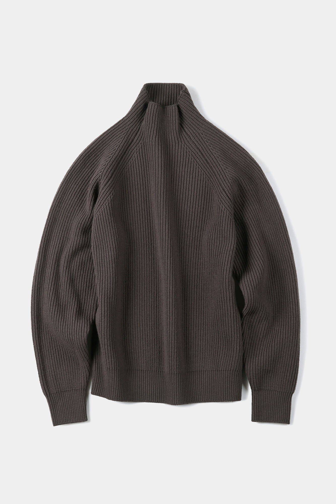 "SHIRTER Super Fine Lambs Wool High Neck Knit ""Mocha"""