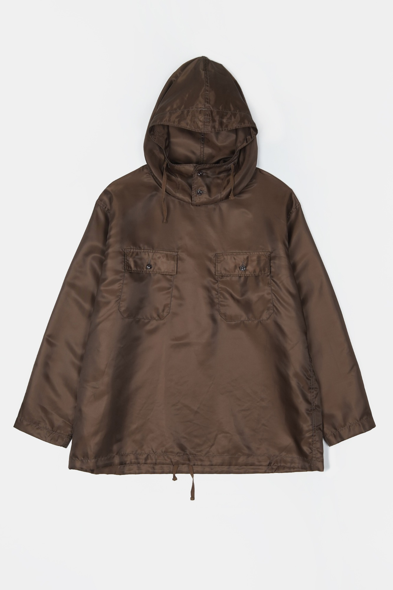 "ENGINEERED GARMENTS Cagoule Shirt ""Brown Polyester Pilot Twill"""