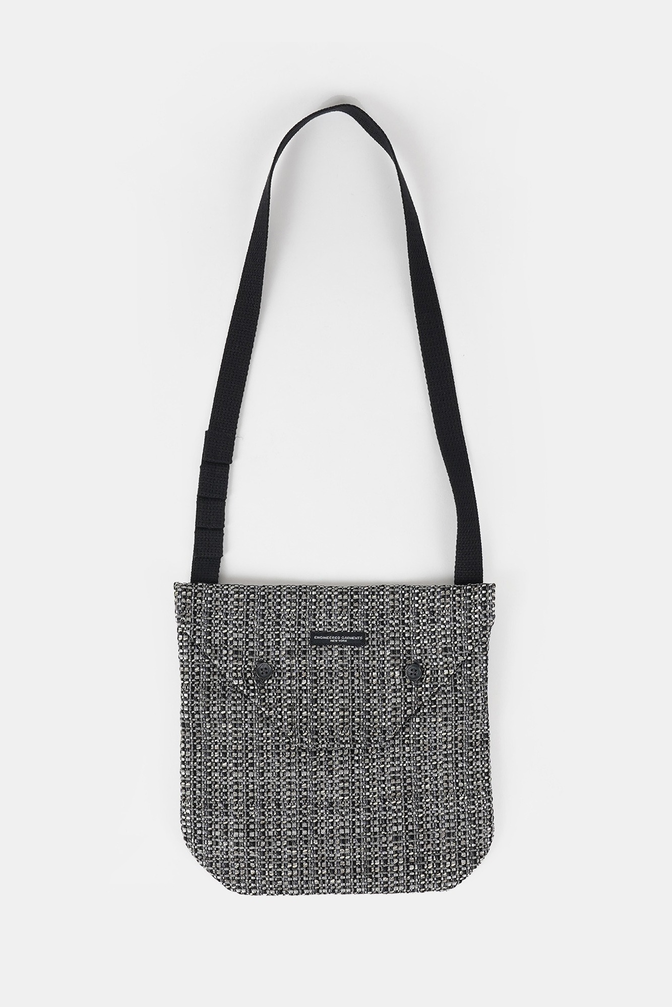 "ENGINEERED GARMENTS Shoulder Pouch ""Grey/Black PC Faux Tweed"""