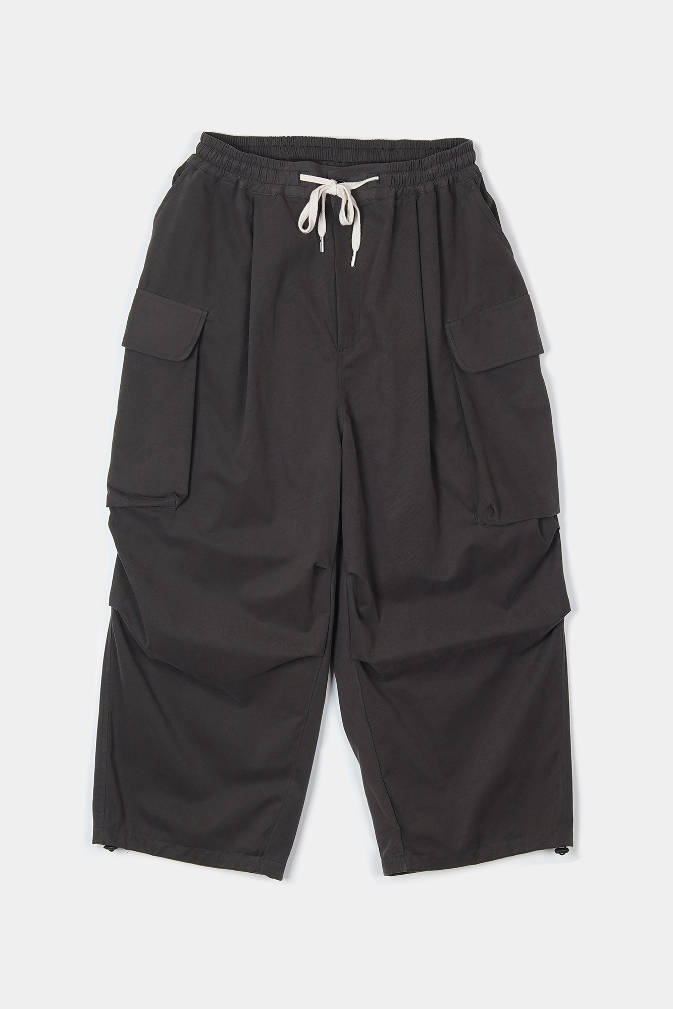 "CONICHIWA BONJOUR Wide Cargo Pants ""Smoke"""