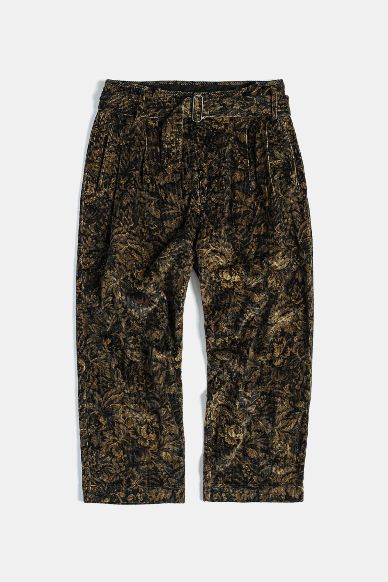 "EASTLOGUE Tropical Wide Pants ""Flower Corduroy"""