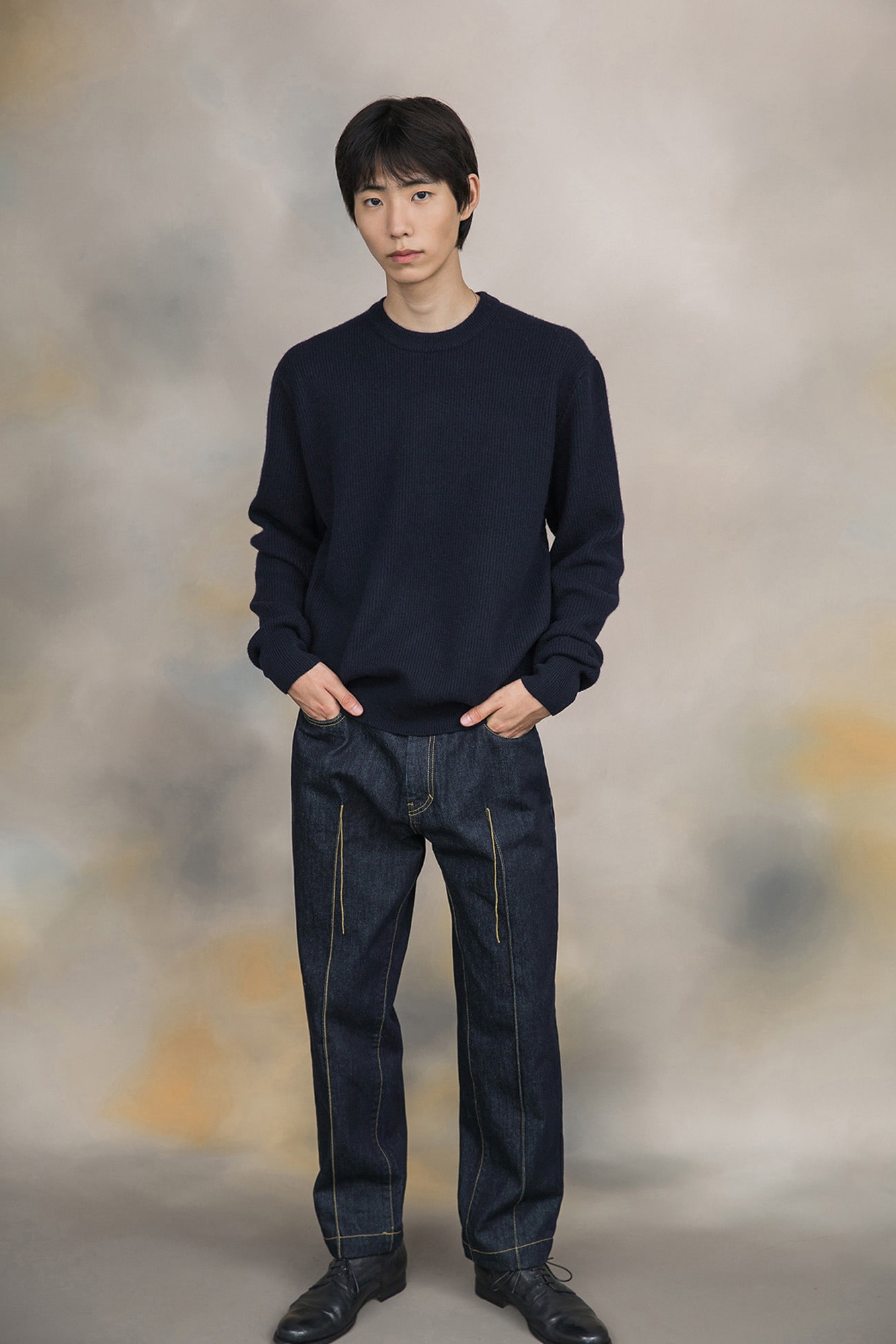 "★SHIRTER Wanderer Crew Neck Knit ""Dark Navy"""