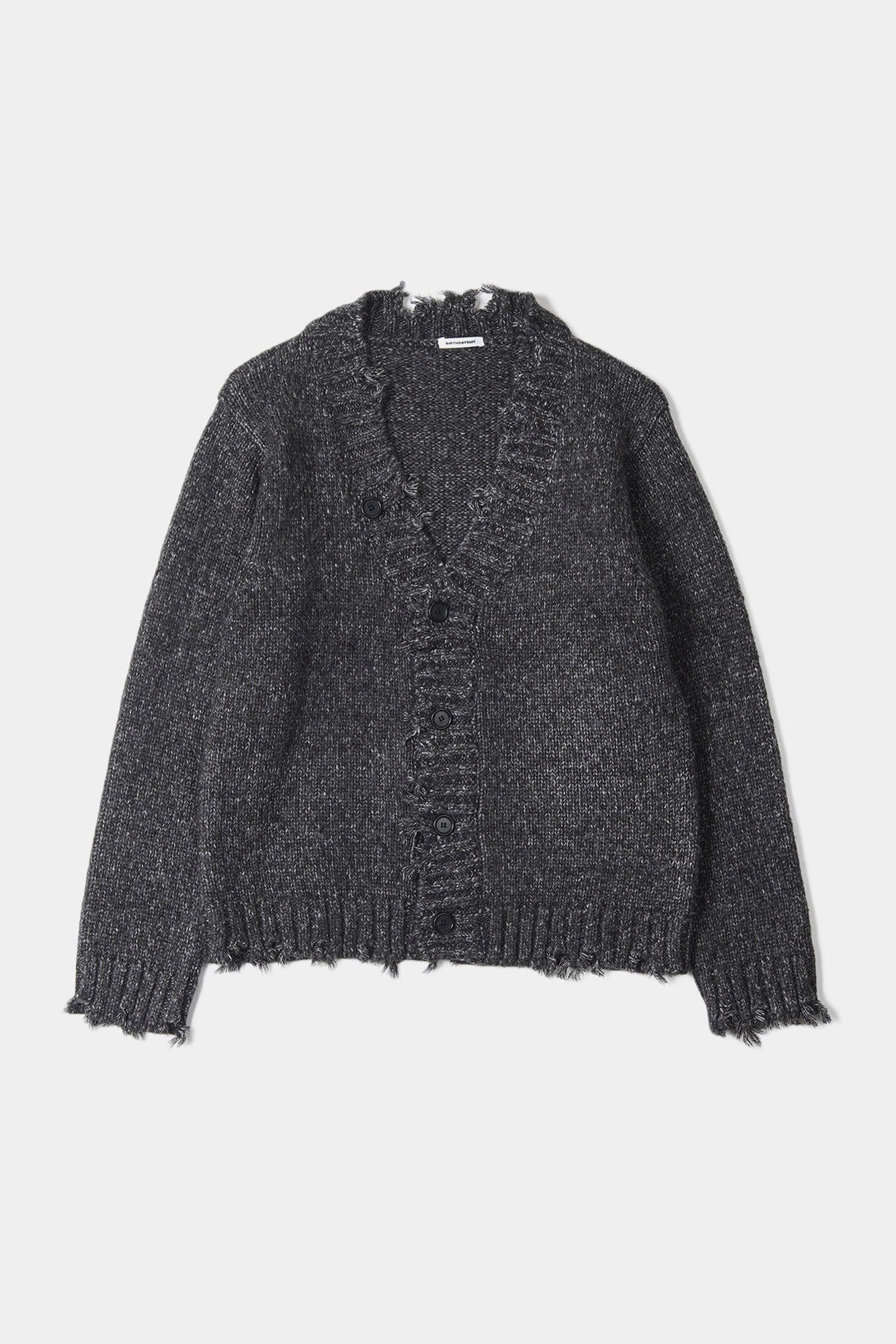 "BIRTHDAYSUIT Damage Big Cardigan ""Black"""