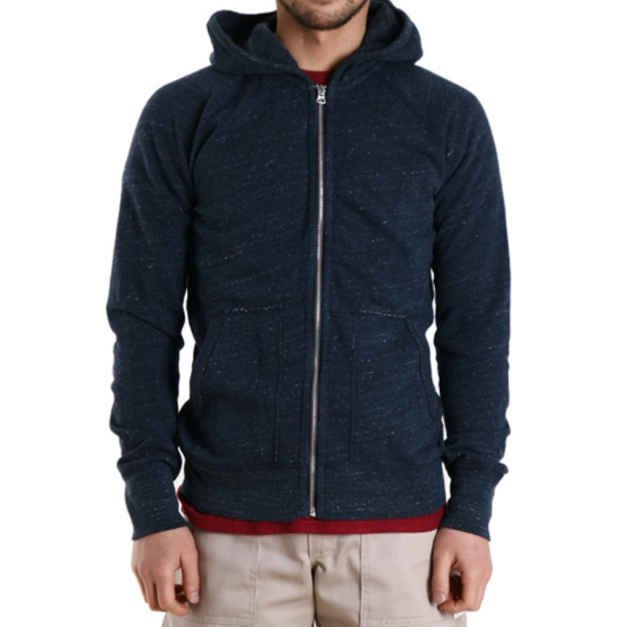 "REIGNING CHAMP L/S Heather Terry Full Zip Hoodie Jacket RC-3251 ""Navy"""