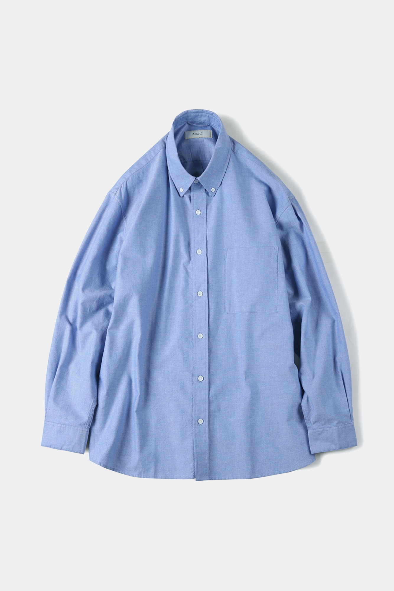 "SHIRTER Washed Oxford Big B.D Shirt ""Blue"""