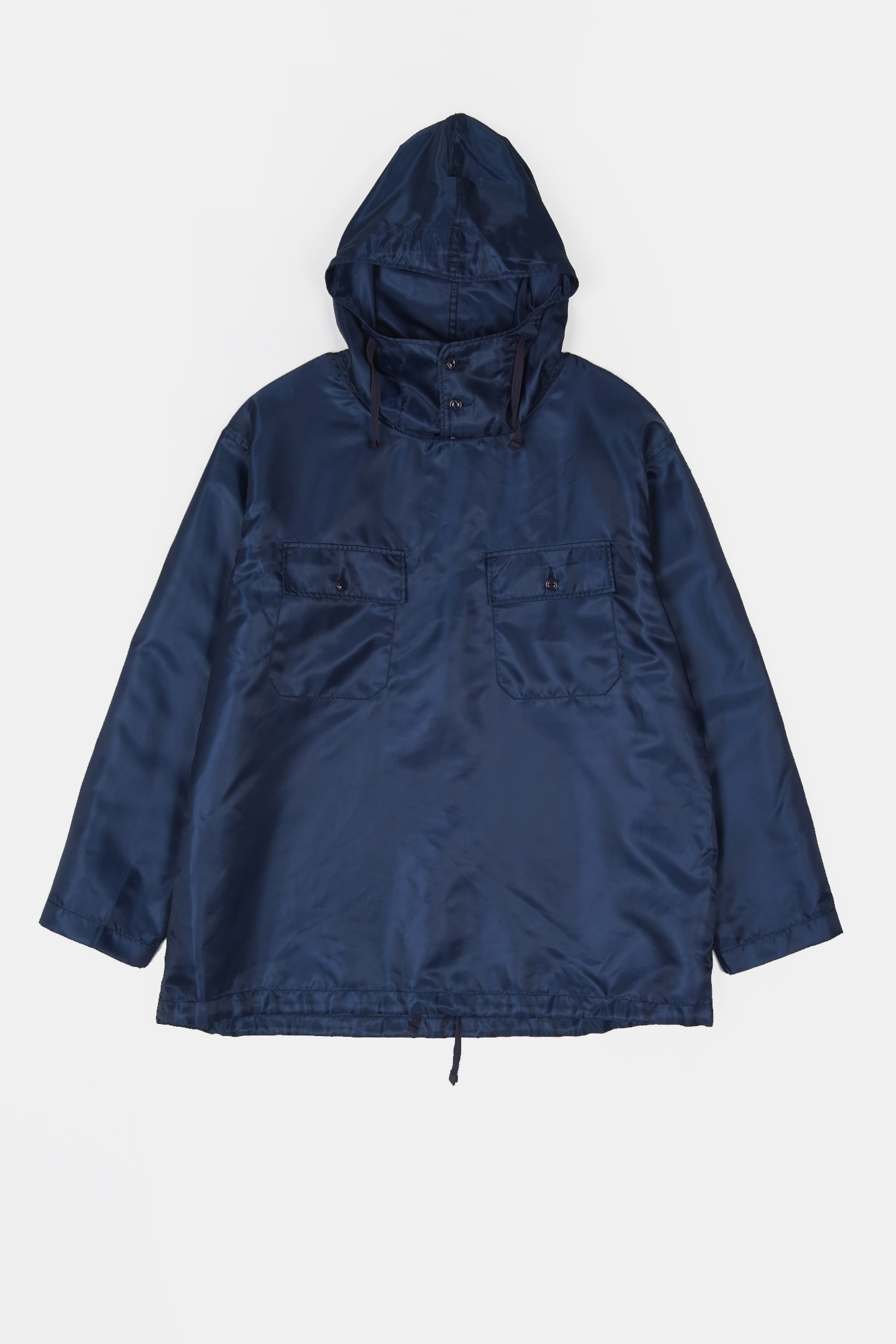 "ENGINEERED GARMENTS Cagoule Shirt ""Navy Polyester Pilot Twill"""