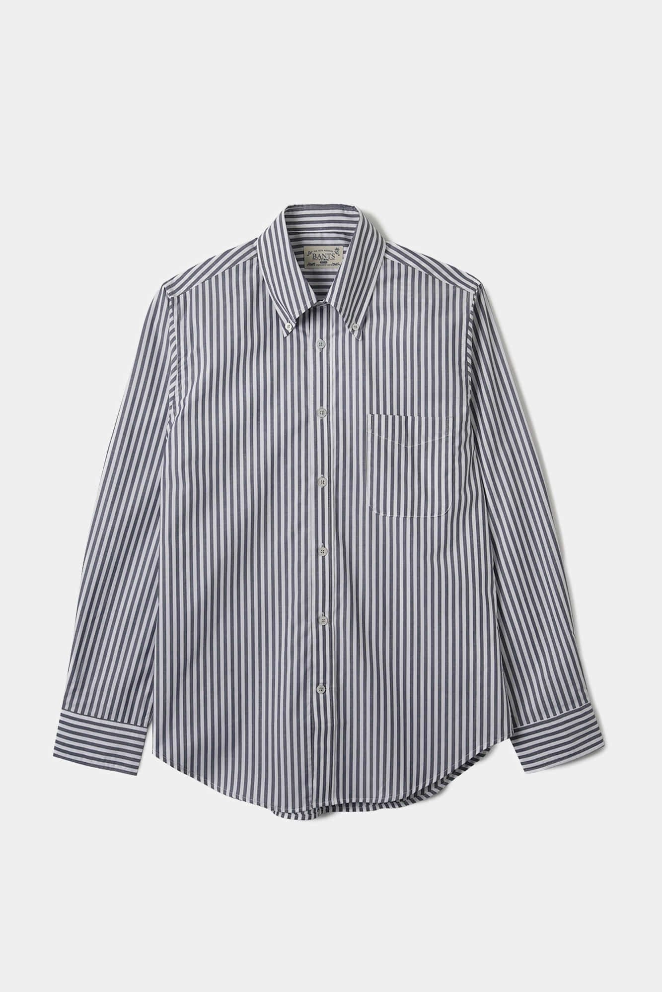 "BANTS OPD Stripe Broadcloth B.D Shirt ""Charcoal"""