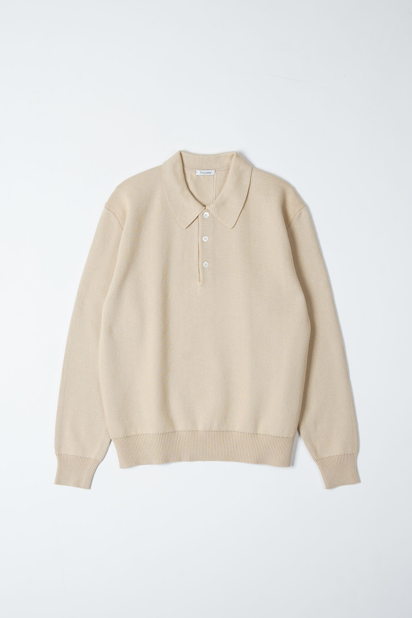 "TRICOTER Low Gauge Polo Knit ""Beige"""