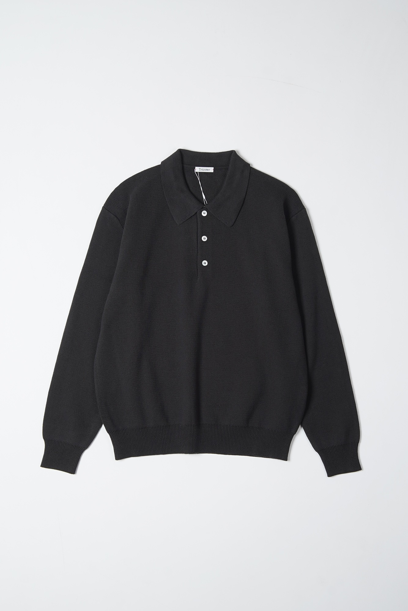 "TRICOTER Low Gauge Polo Knit ""D.Charcoal"""