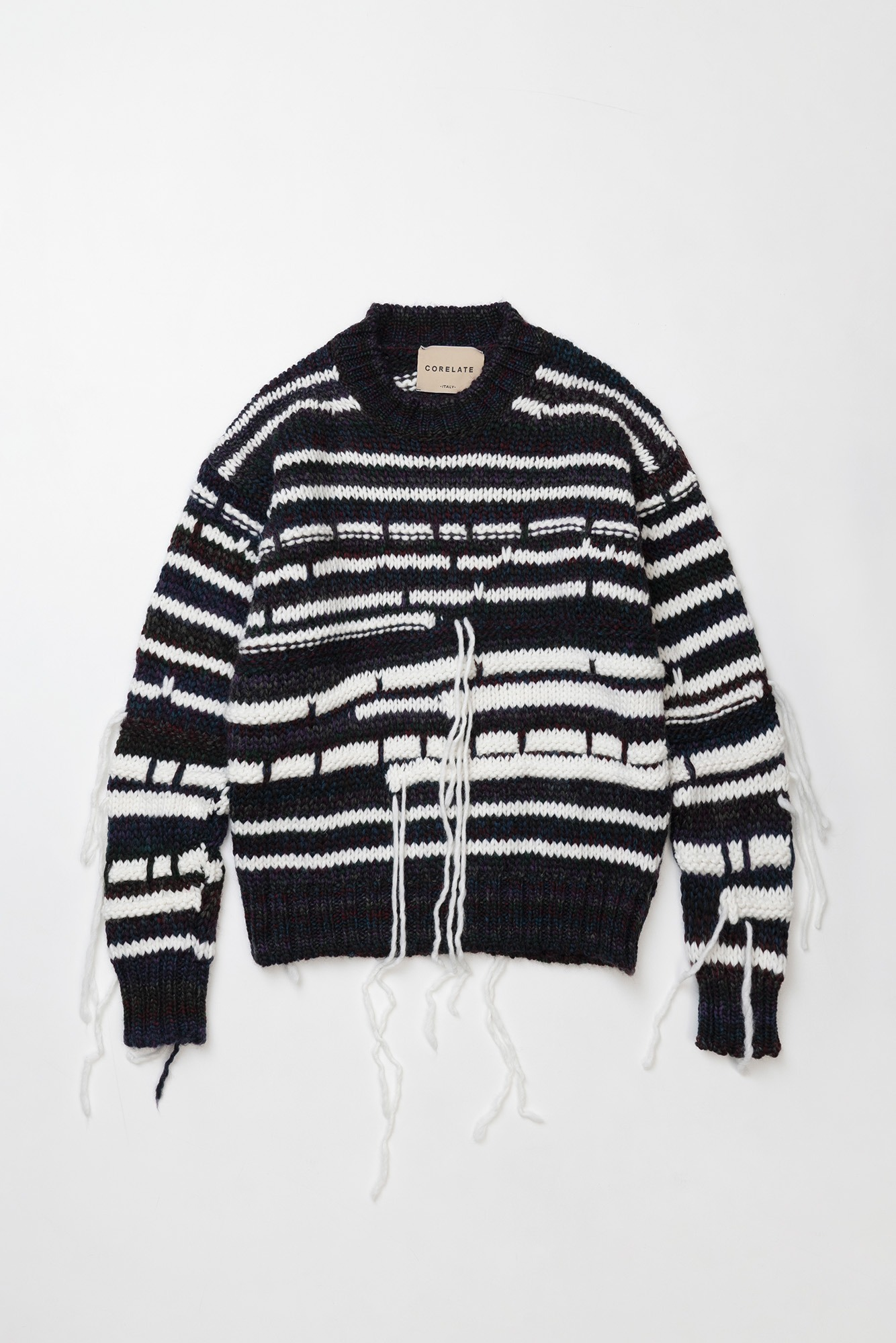 "CORELATE Striped knitted jumper ""Mix"""