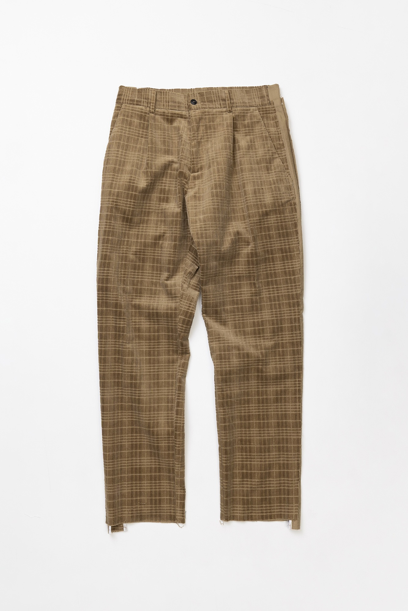 "CORELATE Raw cut trousers ""Beige"""