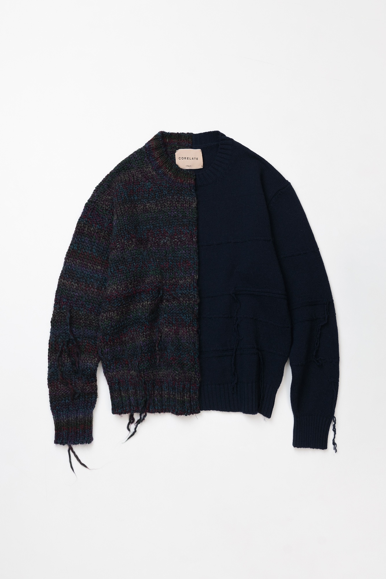"CORELATE Striped knitted jumper ""Navy"""