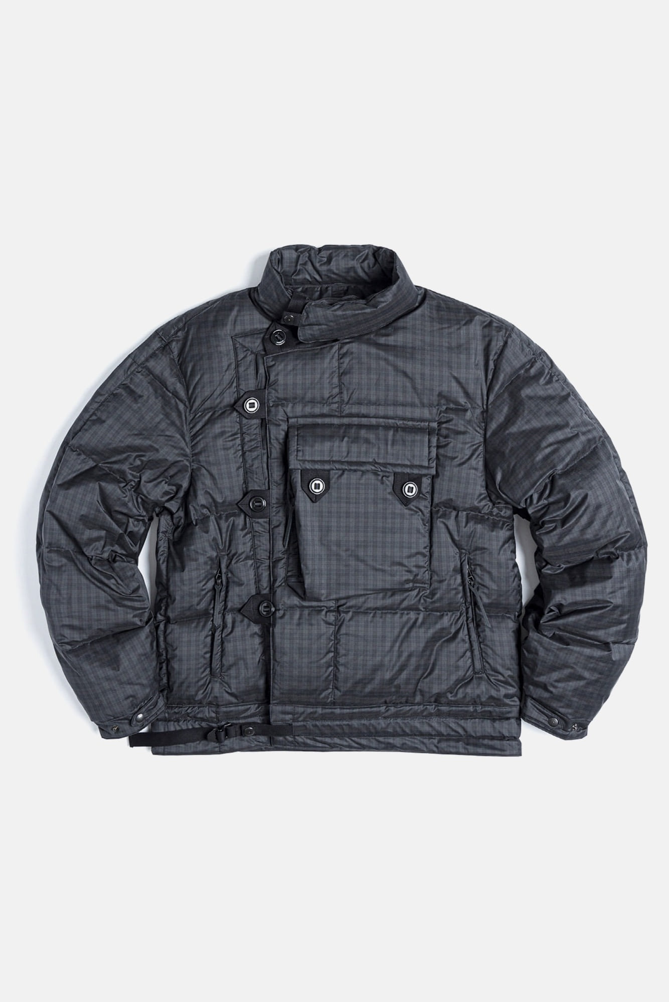 "EASTLOGUE Motorcycle Down Jumper ""Black & Green Check"""