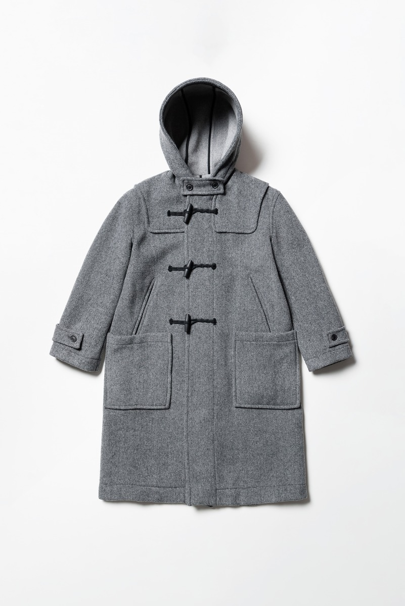 "LONDON TRADITION Winstone Mens Duffle Coat ""Mid Grey Mix"""
