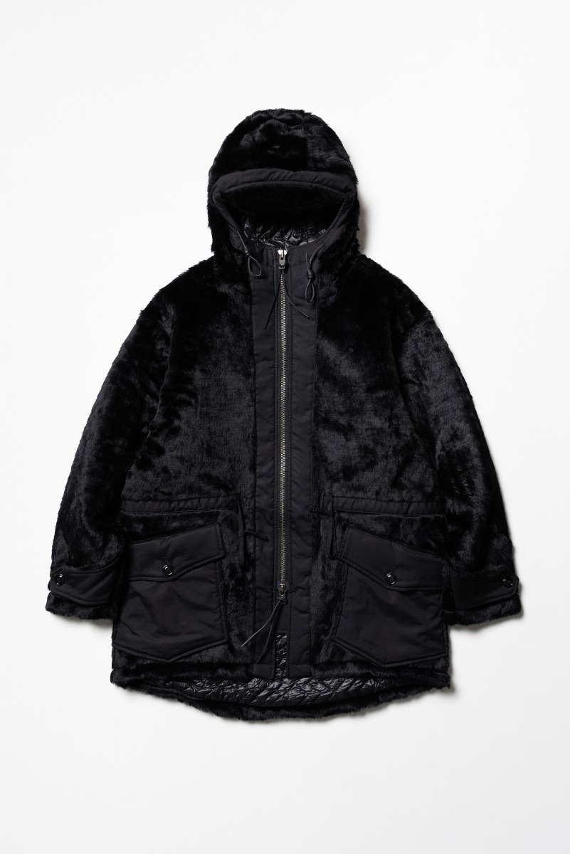 "MONITALY Kodiac Fur Coat ""Black"""