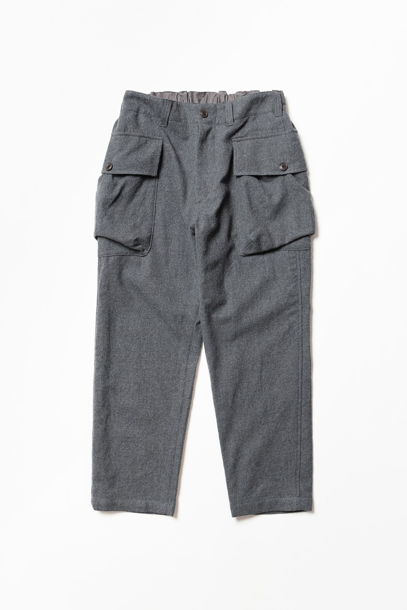 "SAGE DE CRET Length Military Trousers ""M.Grey"""