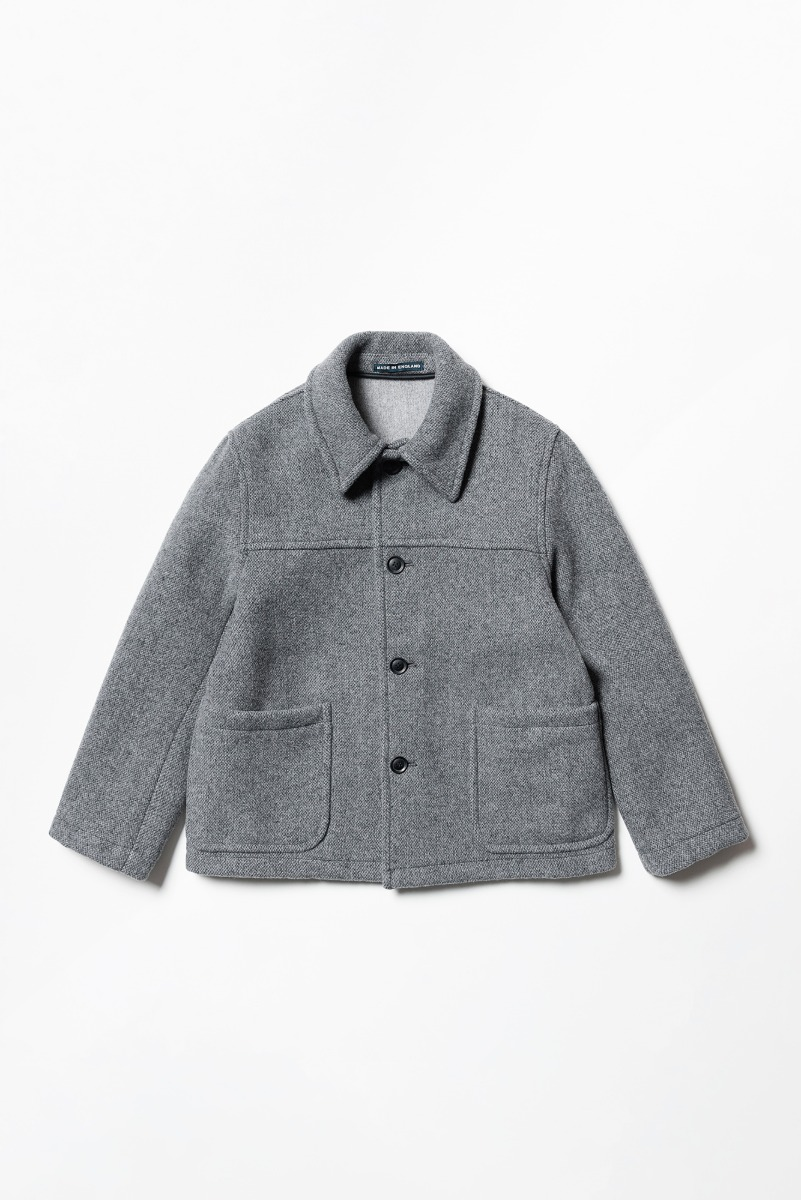 "LONDON TRADITION Jackson Mens Short Jacket ""Mid Grey Mix"""