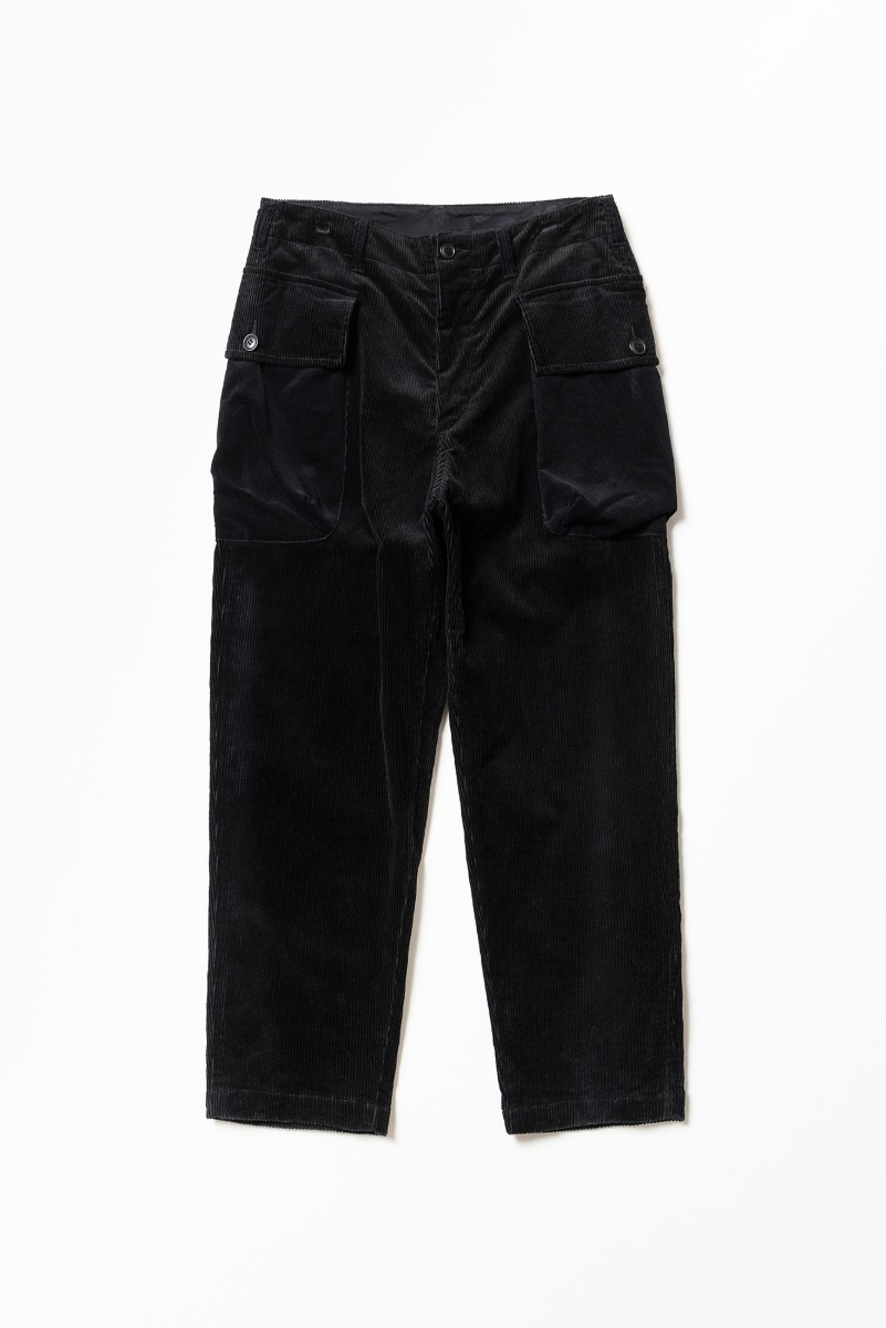 "SAGE DE CRET Patchwork 9/10 Length Military Trousers ""Black"""