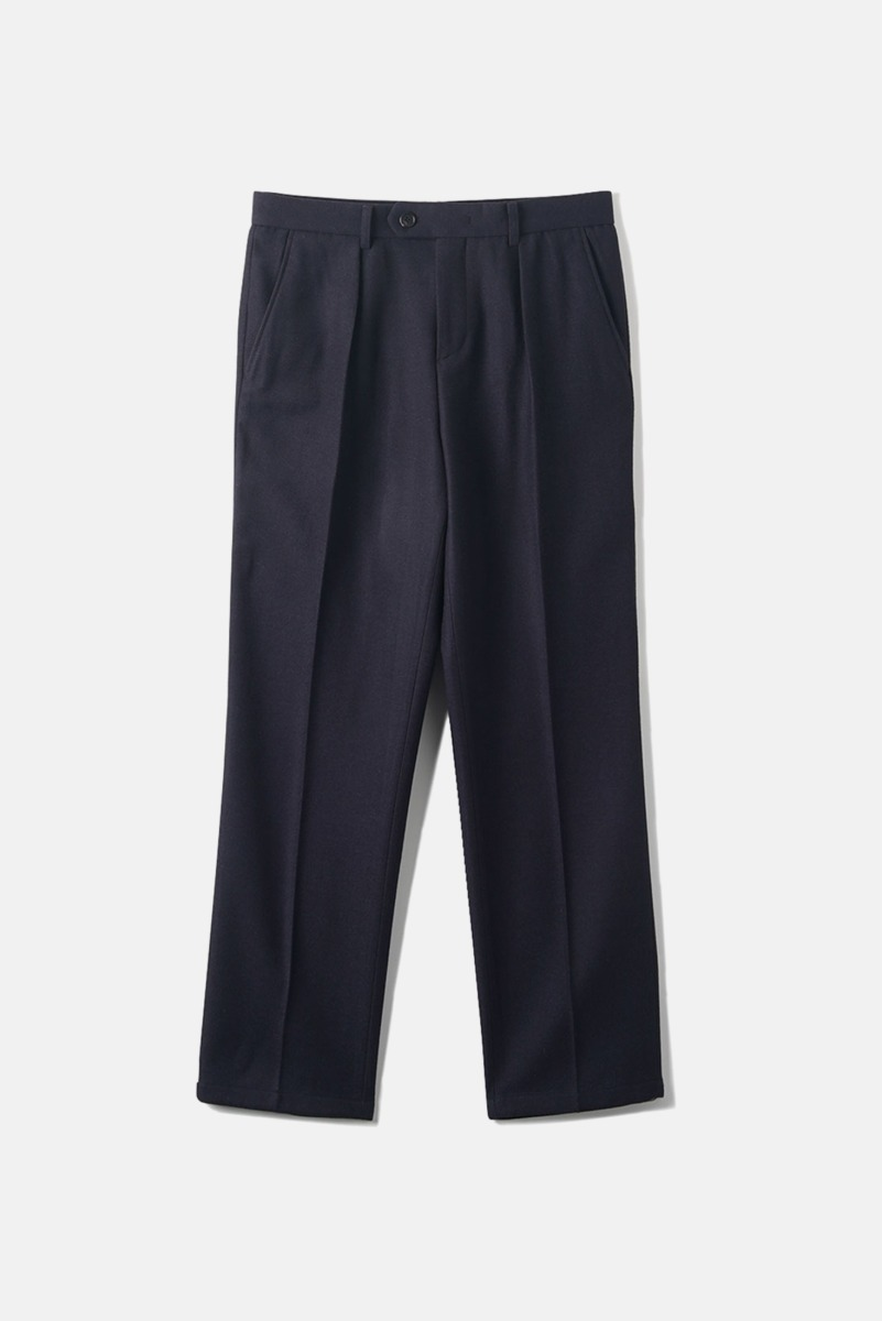 "BANTS OPD Wool One-Tuck Pants ""Navy"""