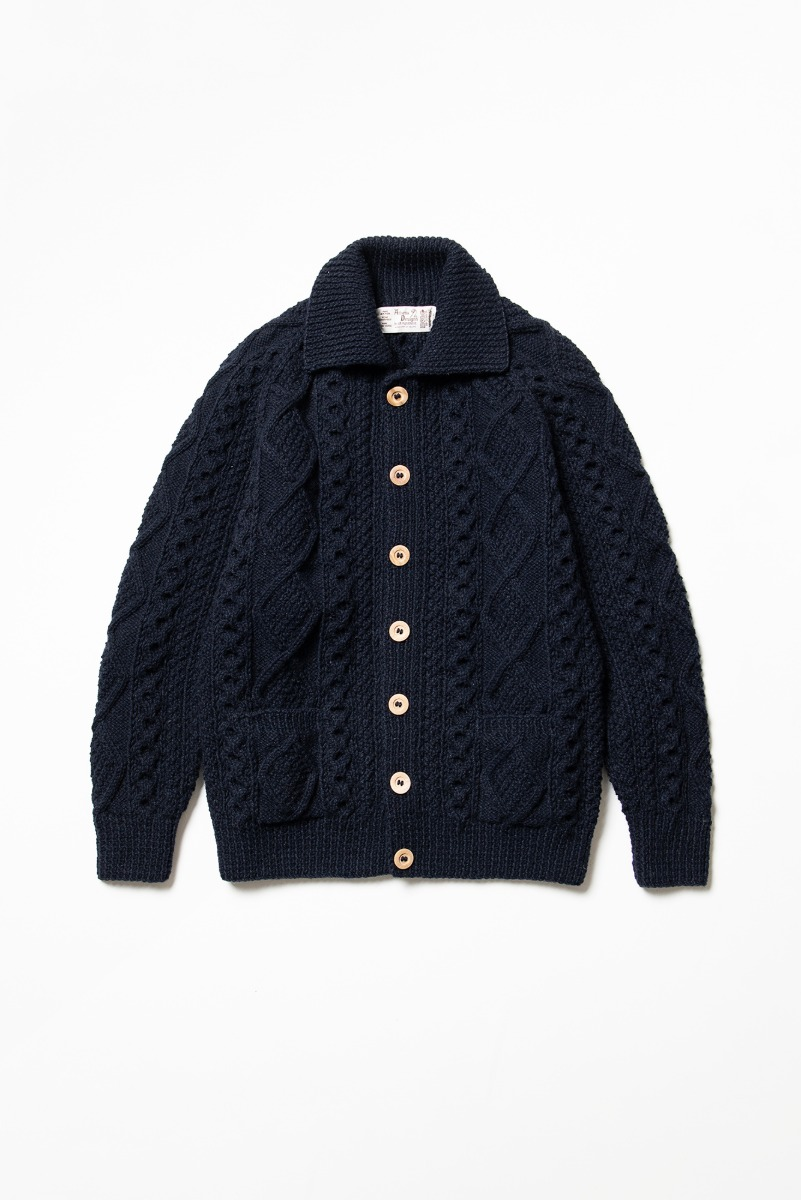 "ATHENA DESIGNS 2S Collar Cardigan ""Navy"""