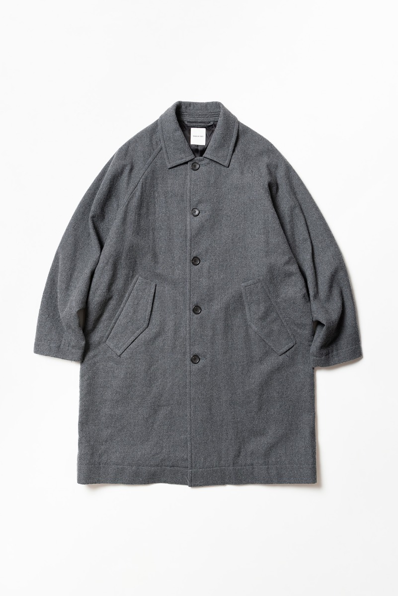 "SAGE DE CRET 20FW Convertible Collar Coat ""M.Grey"""