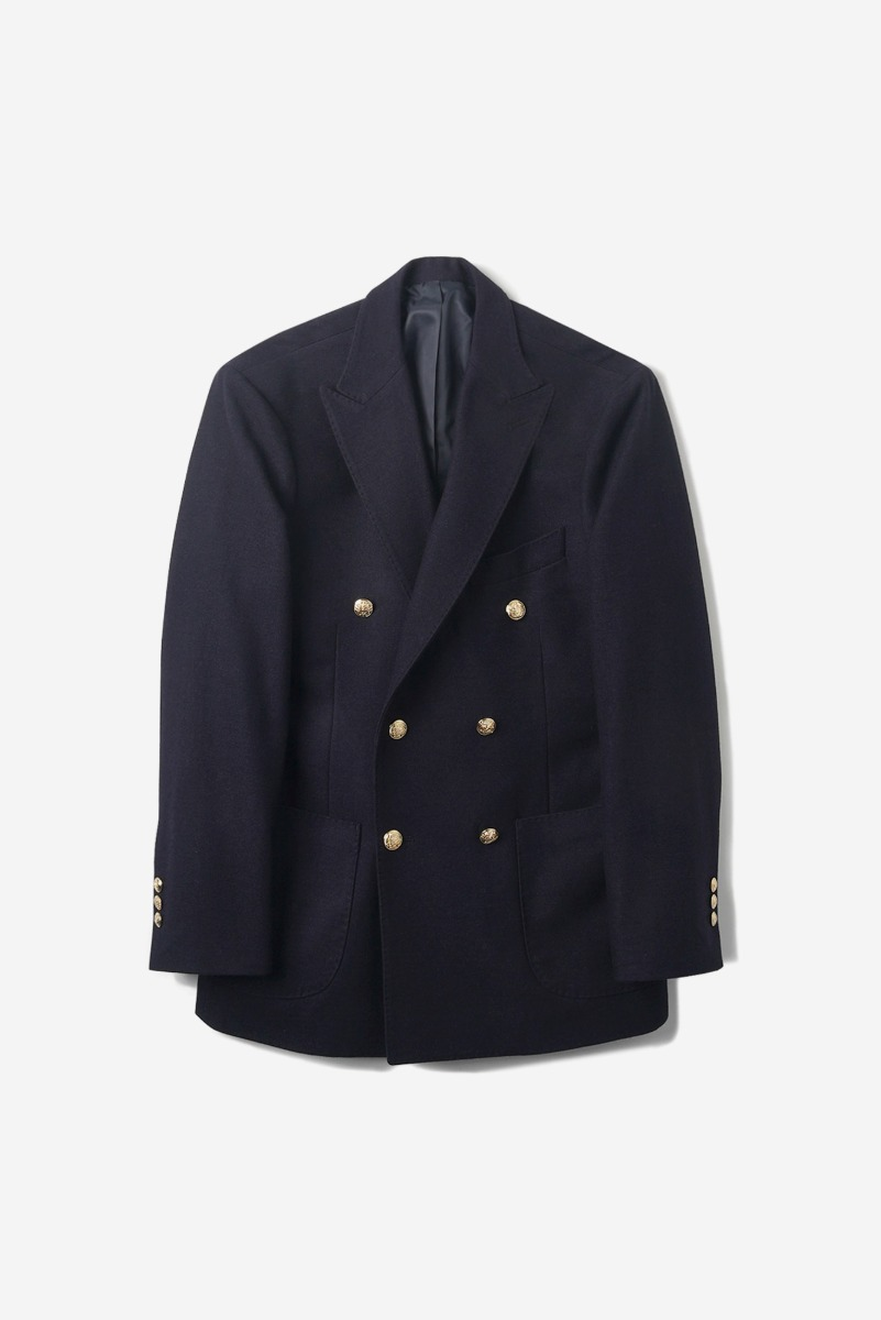 "OPD Wool Double Breasted Jacket ""Navy"""