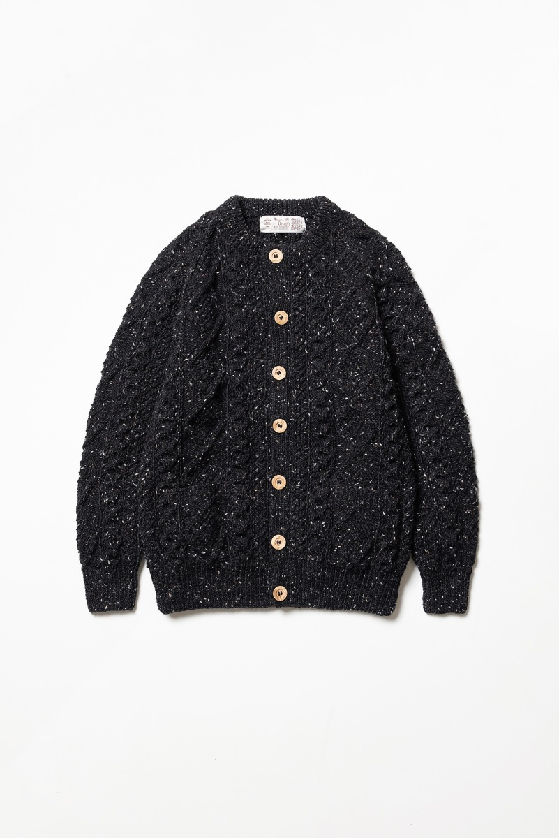 "ATHENA DESIGNS 2S Crewneck Cardigan ""Black Mix"""
