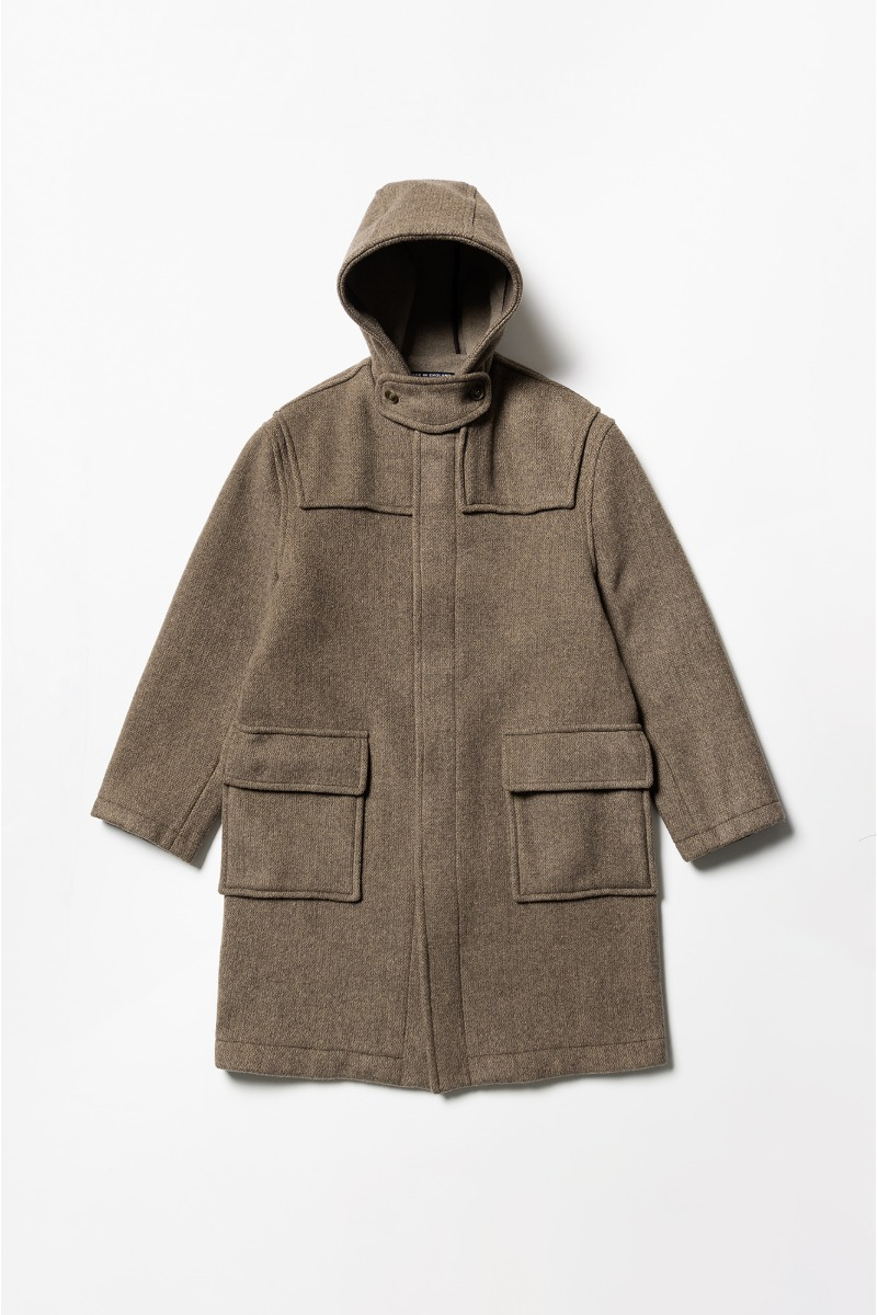 "LONDON TRADITION Classic Fit Hood Coat ""Dk. Vicuna Mix"""
